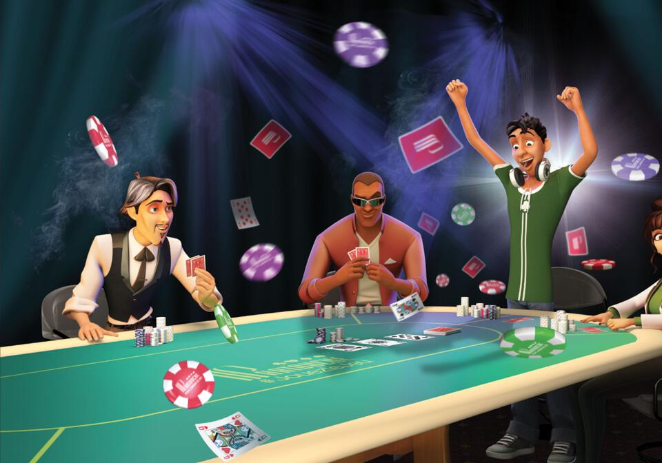 Personnages poker.
