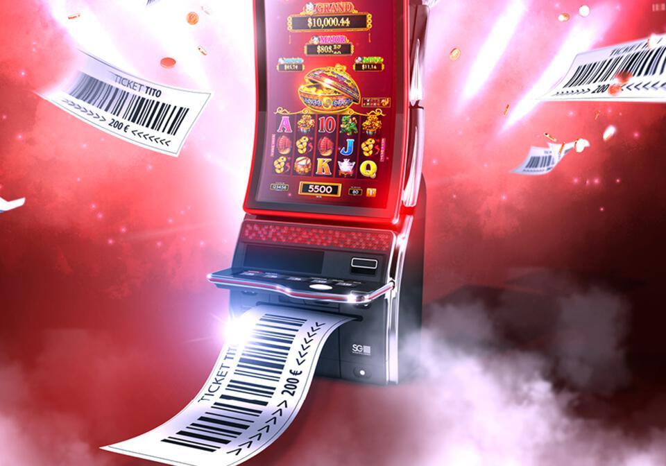 une machine à sous d'où sort ds tickets tito